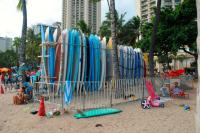Waikiki beach: Canoes and Queens