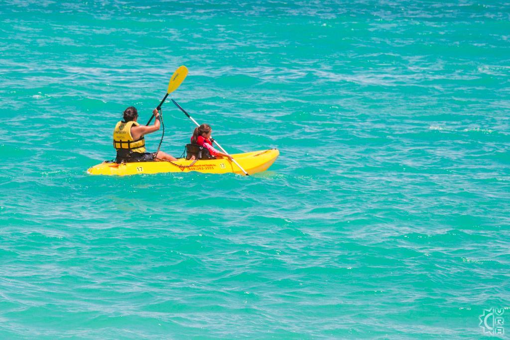 Kayaking to the Mokulua Islands in Kailua, Oahu, Hawaii